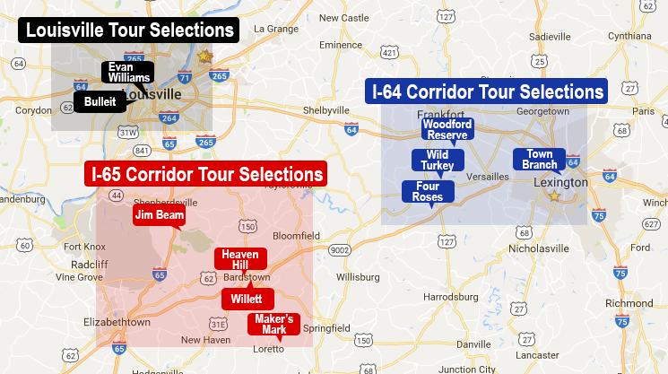 Kentucky bourbon tours safetynet transport kentucky bourbon trail map publicscrutiny Choice Image